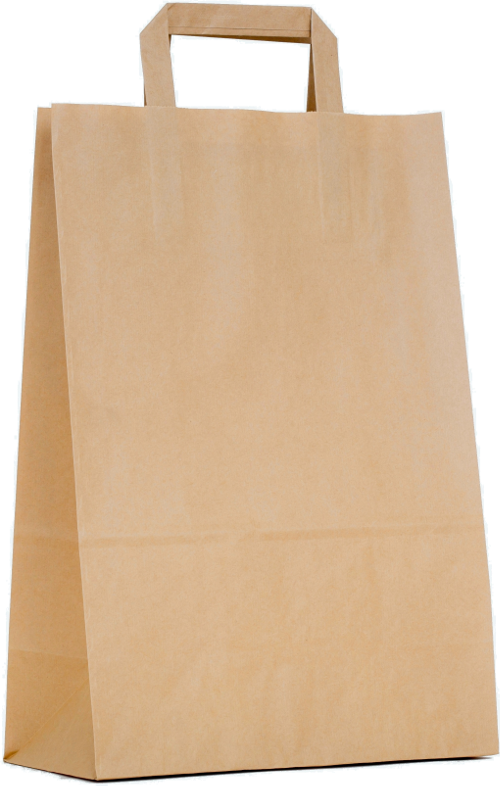 Carrier bag brown with flat handle 450x170x480mm
